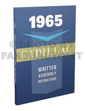 1965 Cadillac Written Assembly Manual Deville Eldorado Calais 60 75 Fleetwood