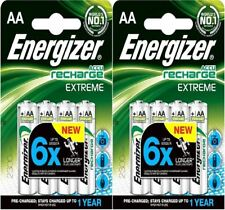 8 x Energizer AA EXTREME Rechargeable Batteries 2300 mAh Pre Charged NiMH LR6