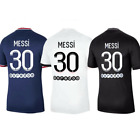 21/22 Messi #30 PSG Jersey Home/Away/3rd Away Paris Saint-Germain Adults