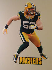 """Clay Matthews FATHEAD Player Graphic 28"""" x 19"""" w/ PACKERS Sign 11"""" x 3.25"""" NFL"""