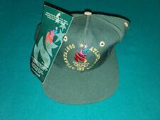 1996 Atlanta Olympic Games Logo 7 Green Snapback Hat Cap USA Vintage FREE SHIPPI