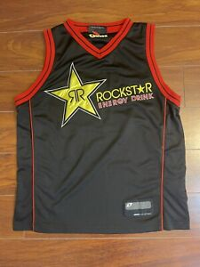 One Industries Rockstar Energy Motocross Black Basketball Jersey Men Size Large