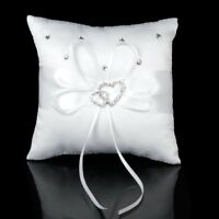 Ring Pillow Double Heart Rhinestone Ring Bearer for Wedding Ceremony Supplies US