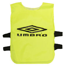 Kids Umbro Yellow Training Bib Football Rugby School Team World Cup Top Jersey