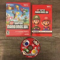 New Super Mario Bros.Wii FREE SHIPPING Nintendo Wii CIB Complete Box Game Manual