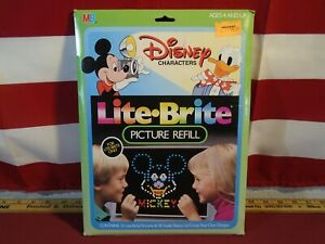 Lite Brite 4779 Disney Refill MB 10 Character 24 Background Sheets Unused