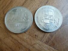 2 PIECES MONNAIE NUMISMATE CANADA ONE DOLLAR 1977 & TRADE DOLLAR NIAGARA 1983