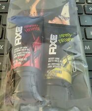 Men's AXE Travel sizes of Hair spiking Gel and Messy Look Gel Brand New! .65 oz