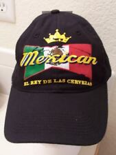 Mexican King of Beers Cervezas Distressed Ball Cap Hat Black NWT Adjustable