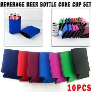 10X Premium Stubby Beer Drink Can Cooler Bottle Stubbie Holder Sleeve Insulator