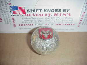 Dodge Ram, , Custom Shift Knob,  (Clear Glitter)