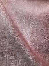 Baby Pink Alligator Crocodile Embossed Chenille Velvet Fabric (56 in.) 1 Yard