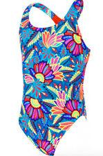 """Zoggs Indian Tribe Rowleeback Girls Swimsuit Age 14 UK 34"""" UPF 50+"""
