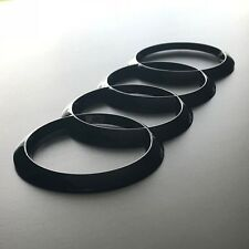 Audi Rings Emblem Gloss Black Rear Trunk Badge Logo A1 A3 S3 A4 S4 A5 S5 A6 S6