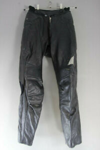 HEIN GERICKE STREETLINE BLACK LEATHER BIKER TROUSERS: WAIST 24IN/INSIDE LEG 28IN