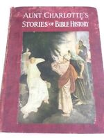 1929 Aunt Charlotte's Stories Of Bible History Charlotte Yonge Personalized Red