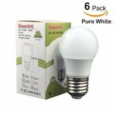 6 Pack 3W G45 LED Light Bulbs Equivalent to 25W E26 base Pure White 6500 Kelvin