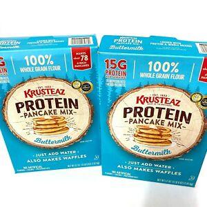 Krusteaz Buttermilk Protein Pancake Mix, 57 oz - Pack of 2