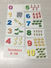 Number Counting Matching Cards 1-10 Preschool Educational supplies