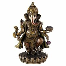 "7.5"" Standing Ganesh Hindu Lord of Prosperity Fortune Statue Sculpture Decor"