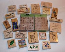 NEW Huge Lot 82 Rubber Ink Stamps Alphabet Christmas Valentine Wedding Phrases