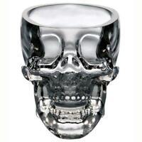 Crystal Skull Head Vodka Whiskey Shot Glass Cup Drinking Ware Home Bar GA
