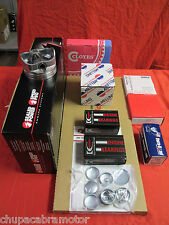 Chevy 350 5.7L Engine Kit Hyper 2VR Flat Top Pistons+MOLY Rings 1969-79