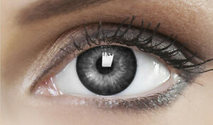 Farbige Schwarze Kontaktlinsen Karneval Fasching Halloween - DEEP BLACK - PLANO