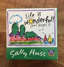 Master Pieces Life is Wonderful SALLY HUSS 100 Pc Mini Jigsaw Puzzle Sealed 9x7