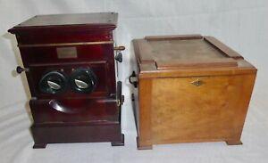 Planox Heidoplast Stereo-Betrachter, mit Sockel / Podest um 1928