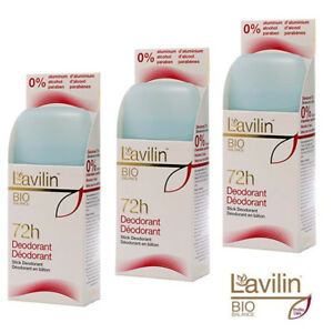 HLAVIN LAVILIN Deodorant Stick Aluminium Paraben free Odour FREE 72H 3x50ml