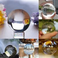 50-150mm Clear Crystal Paper Weigh Photography Lens Ball Photo Prop Decor Gift