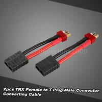 2X Female Connector to Male Deans T Plug Adapter Wire for Traxxas J5G2