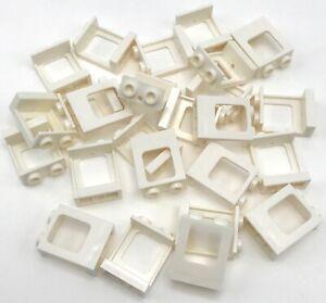 Lego Lotto Di 25 Bianco Treno Windows Nessun Bicchiere Pezzi Parti