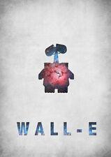 POSTER WALL-E WALLE WALL E PIXAR EVE ROBOT CINEMA LOCANDINA FILM DVD MOVIE #1