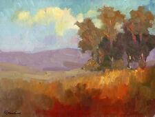 Landscape Napa Sally Rosenbaum impressionism art print 8 x 10 SIGNED decorator