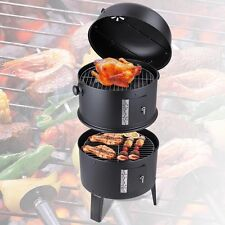 Patio Smoker Grill BBQ Backyard Firepit Charcoal Cooker Meat Grilling Roasting