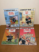4 albums bande dessinée BD - E.O - L'AGENT 212 (N°13, 16, 18, 19) - DUPUIS