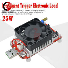 25W QC3.0 LED Display USB Intelligent Electronic Load Thermostatic fan Tester