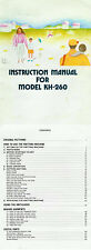 Manual/Pattern/Parts Catalog pdf for Brother KH860 to KH970 & Silver Reed Studio