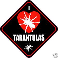 """I LOVE (HEART) TARANTULAS 4"""" TARANTULA STICKER"""