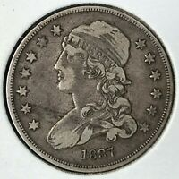 1837 SILVER CAPPED BUST QUARTER HIGH GRADE SCARCE COIN