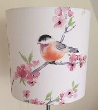 Cherry Blossom And Birds Lampshade Handmade 20cm Drum, Vintage, Shabby Chic