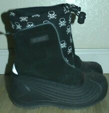 Youth Boy's Girl's 1 SPORTO SKULLY Black Skull Print Waterproof Insulated Boots