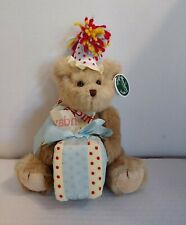"The Bearington Collection Beary Happy Birthday 12"" Fully Jointed Bear Gift Box"