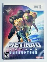 METROID PRIME 3 CORRUPTION - NINTENDO Wii - COMPLETE 🔥