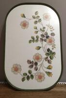 Vintage M&S Melamine Tray. Autumn Leaves. Green Edge 44.5x29.5 Cm
