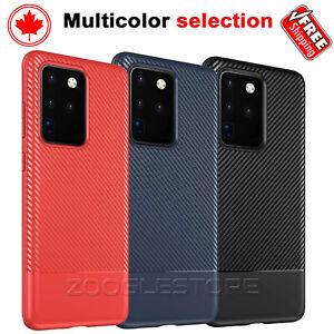 For Samsung Galaxy S20 Ultra S20+ Plus Case Heavy Duty Carbon Fiber Slim Cover