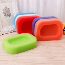 Bathroom Kitchen Mesh Sponge Soap Holder Box Dish Tray Container Random Color