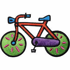 Bicycle Embroidered Iron / Sew on Patch Cycling Bike Clothing Hat Trousers Badge
